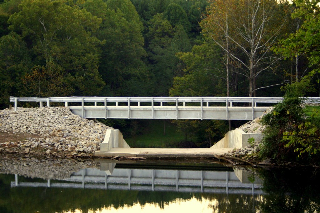 Steel I beam bridge