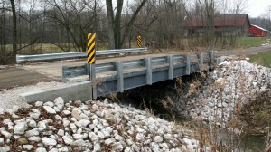 Steel beam bridge