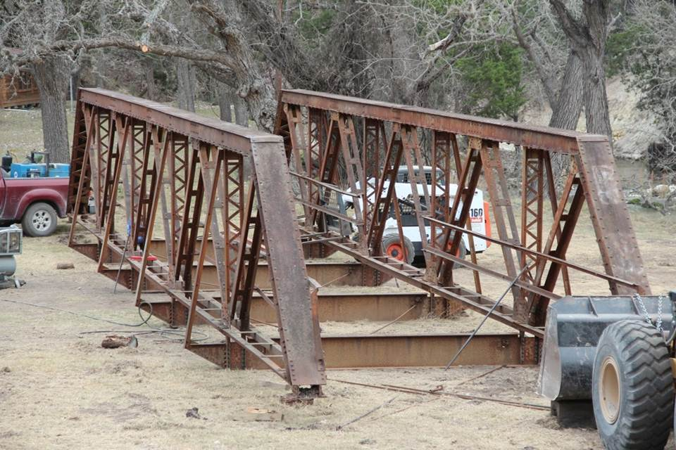 Assembling the former Butler Bridge from Martin county Indiana
